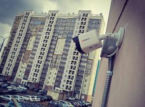 Монтаж системы видеонаблюдения в 4-подъездном доме