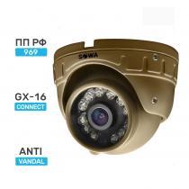 Сферическая антивандальная миниатюрная AHD видеокамера SOWA AHD 2 MP T221-21