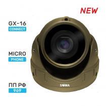 Сферическая антивандальная миниатюрная AHD видеокамера SOWA AHD 2 MP T221-21NA