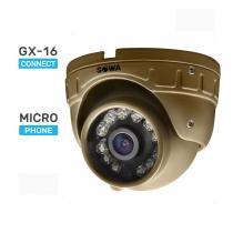 Сферическая антивандальная миниатюрная AHD видеокамера с микрофоном SOWA T120-21A