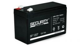 Аккумулятор АКБ-7 Security Force SF 1207, 12В/7Ач