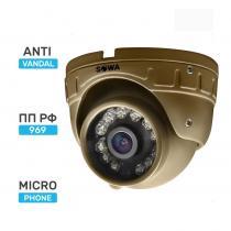 Сферическая антивандальная миниатюрная AHD видеокамера SOWA AHD 2 MP T221-21A