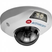 Вандалозащищенная миникупольная IP видеокамера 1Mp,  ActiveCam AC-D4101IR1 ИК-подсветкой