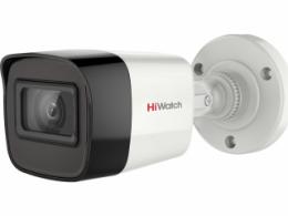 5 Мп цилиндрическая HD-TVI видеокамера с EXIR-подсветкой до 30 м и микрофоном DS-T500A