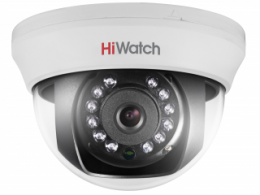 5 Мп купольная HD-TVI видеокамера с ИК-подсветкой до 20 м DS-T591