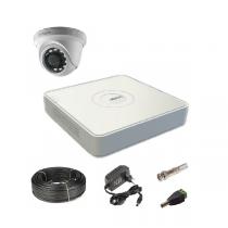 Комплект видеонаблюдения на 1  купольную Tvi-HD камеру 2Мп