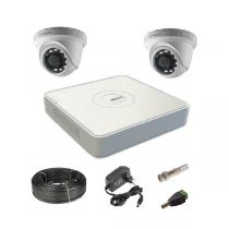 Комплект видеонаблюдения на 2 купольные Tvi-HD камеры 2Мп