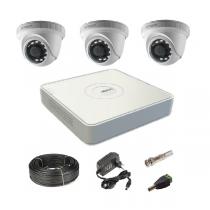 Комплект видеонаблюдения на 3 купольные Tvi-HD камеры 2Мп