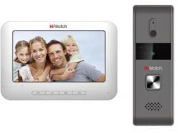 """Видеодомофон 7"""" с вызывной панелью Hikvision HiWatch DS-D100K"""