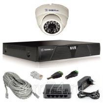 Готовый комплект ip видеонаблюдения на 1 внутреннюю IP камеру 1Мр.