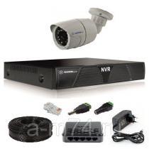 Готовый комплект ip видеонаблюдения на 1 уличную IP камеру 1Мр.