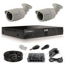 Готовый комплект ip видеонаблюдения на 2 уличные IP камеры 1Мр.