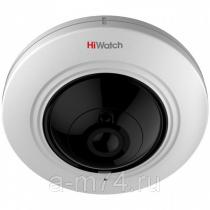 HD-TVI камера 5Мп HiWatch DS-T501 с объективом «рыбий глаз», аудио и ИК-подсветкой EXIR