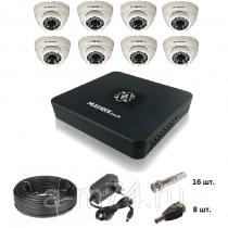 Готовый комплект видеонаблюдения на 8  AHD камер 1Мр.