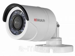Уличная цилиндрическая HD-TVI камера 1 Мп HiWatch DS-T100