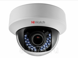 Внутренняя купольная вариофакальная HD-TVI камера HiWatch DS-T107