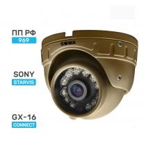 Сферическая антивандальная миниатюрная AHD видеокамера SOWA AHD 2 MP T223-21