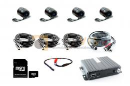 Комплект видеонаблюдения для автомобиля автошколы 4-канальный