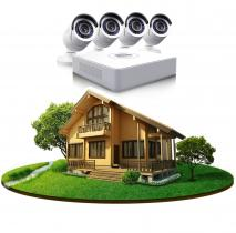 Комплект видеонаблюдения в частный дом на 4 камеры